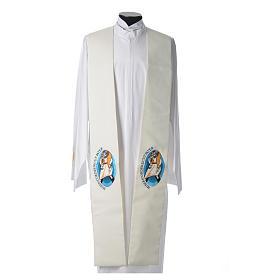 Stuły: STOCK Stuła szeroka Jubileusz Papież Franciszek napis ŁACIŃSKI poliester haft maszynowy