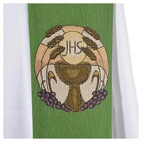 Estola cáliz hostia IHS espigas poliéster algodón lurex s5