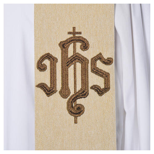 Stola IHS und Kreuz Jacquard Rahmen 9