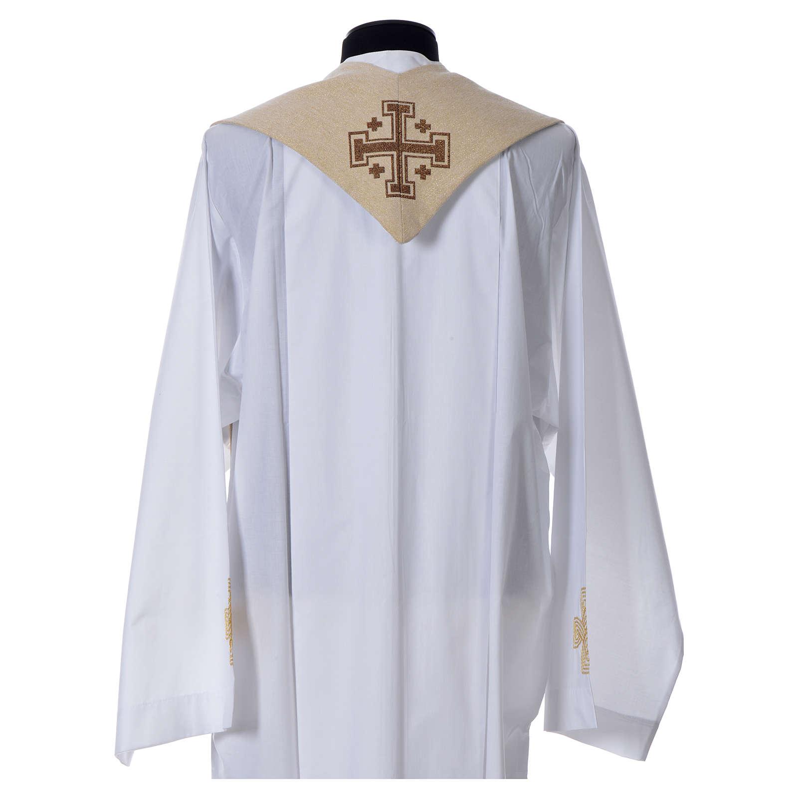 Étole liturgique Saint Antoine de Padoue beige 4