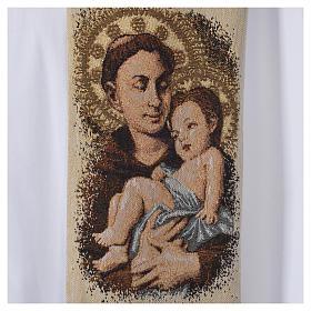 Étole liturgique Saint Antoine de Padoue beige s5