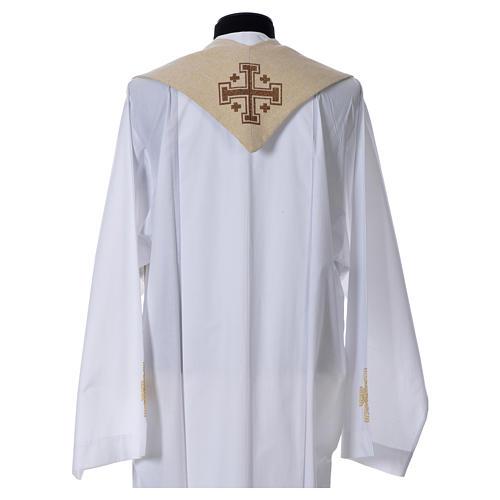 Étole liturgique Saint Antoine de Padoue beige 2