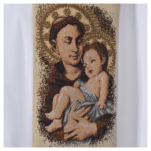 Étole liturgique Saint Antoine de Padoue beige 5