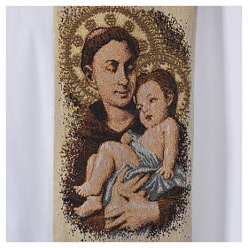 Stola Sant'Antonio da Padova bianca s5