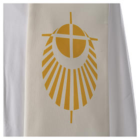 STOCK Jubilee Stole with Latin writing, printed logo s4