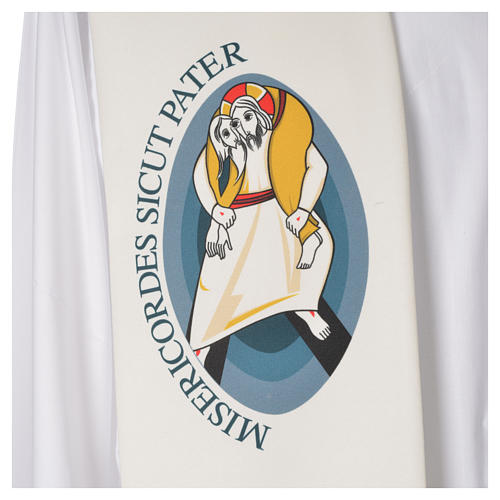 STOCK Jubilee Stole with Latin writing, printed logo 3