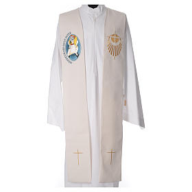 STOCK Priest Stole Jubilee of Mercy LATIN mixed with application s4