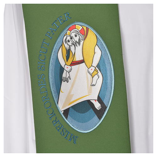 STOCK Priest Stole Jubilee of Mercy LATIN mixed with application 7