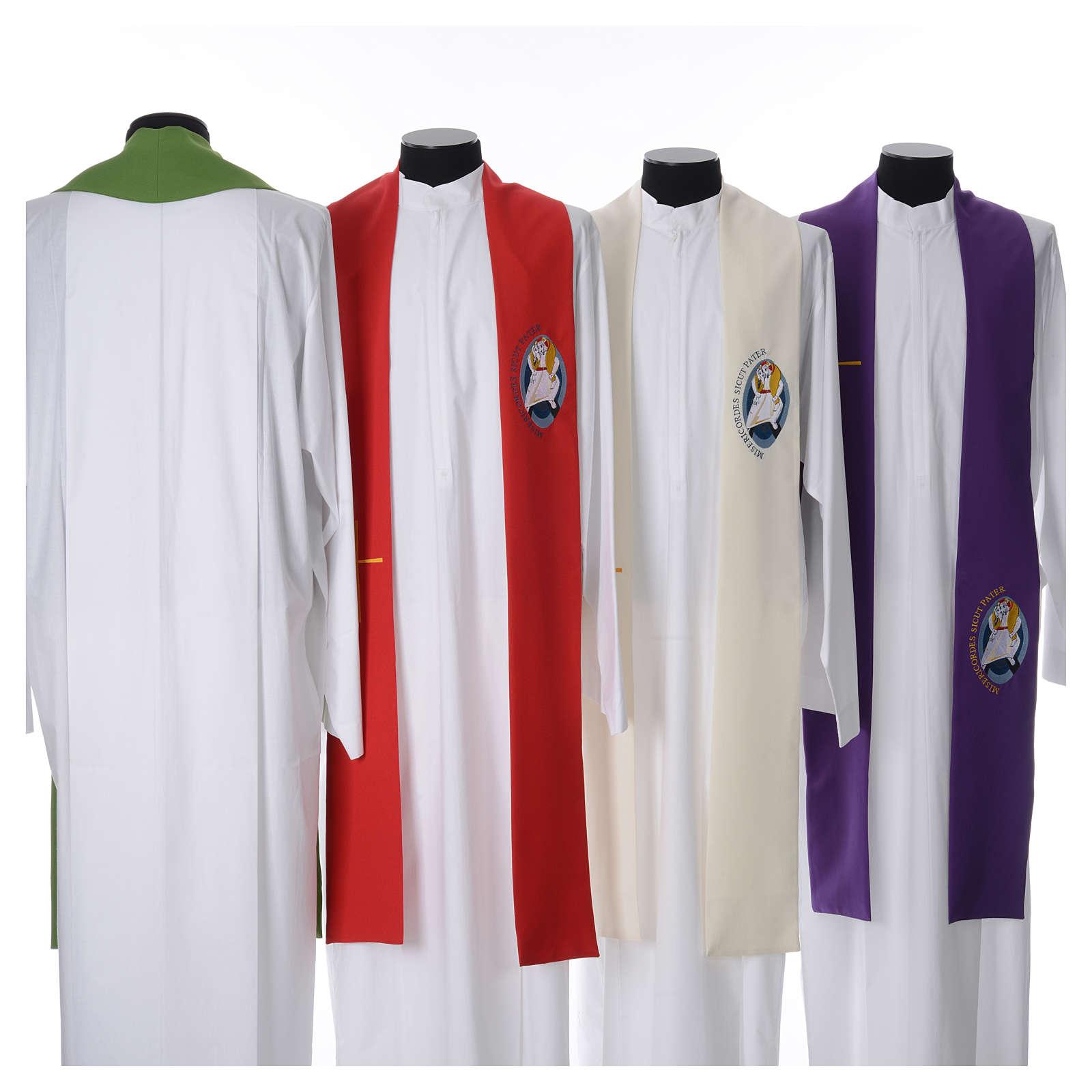 STOCK Stola Giubileo della Misericordia 100% poliestere 4