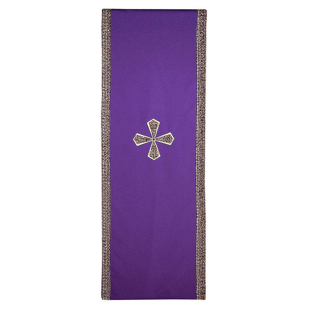 Coprileggio 100% poliestere inserti tessuto croce ricamata 4