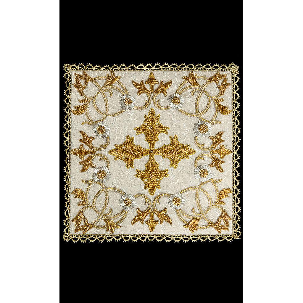 Couvre-calice (pale) en damas entièrement brodé à la main 4