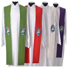 STOCK Pope Francis' Jubilee Big Stole with FRENCH machine embroided logo s1