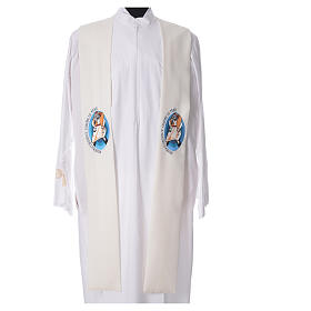 STOCK Pope Francis' Jubilee Big Stole with FRENCH machine embroided logo s4