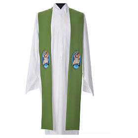 STOCK Pope Francis' Jubilee Big Stole with FRENCH machine embroided logo s6