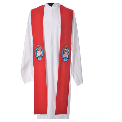 STOCK Pope Francis' Jubilee Big Stole with FRENCH machine embroided logo 5