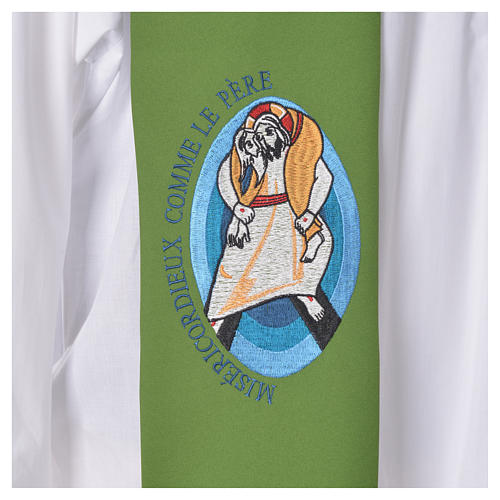 STOCK Pope Francis' Jubilee Big Stole with FRENCH machine embroided logo 7