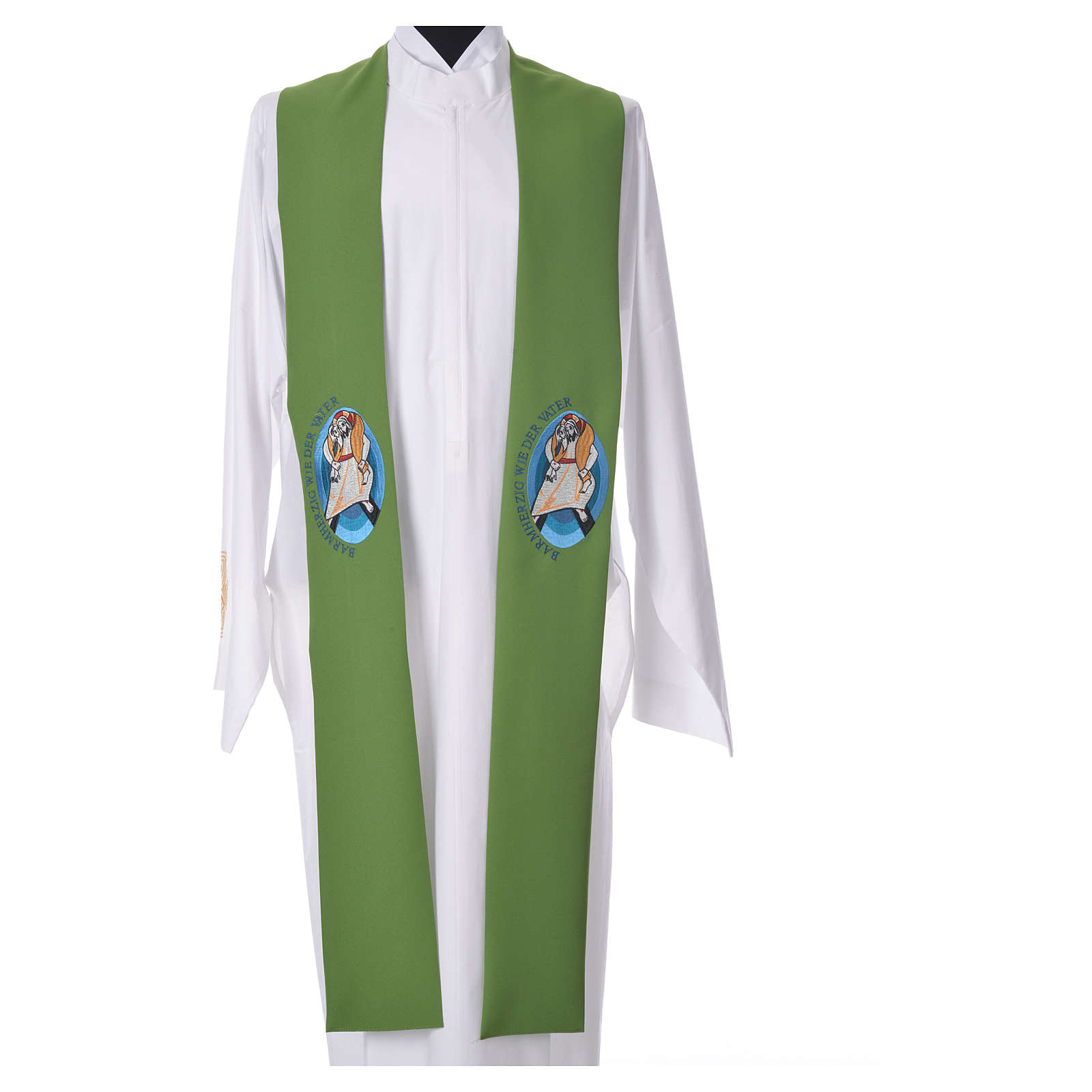 STOCK Pope Francis' Jubilee Big Stole with GERMAN machine embroided logo 4