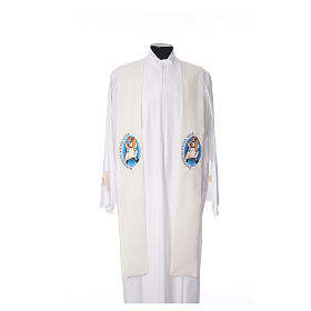 STOCK Pope Francis' Jubilee Big Stole with GERMAN machine embroided logo s4