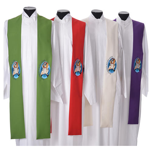 STOCK Pope Francis' Jubilee Big Stole with GERMAN machine embroided logo 1