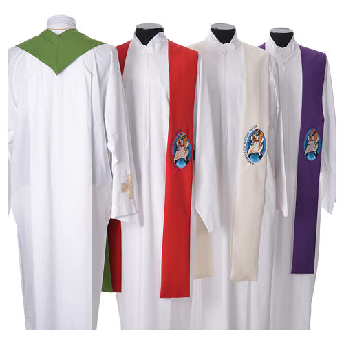 STOCK Pope Francis' Jubilee Big Stole with GERMAN machine embroided logo 2