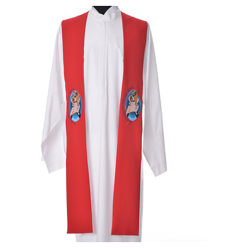 STOCK Pope Francis' Jubilee Big Stole with GERMAN machine embroided logo 5