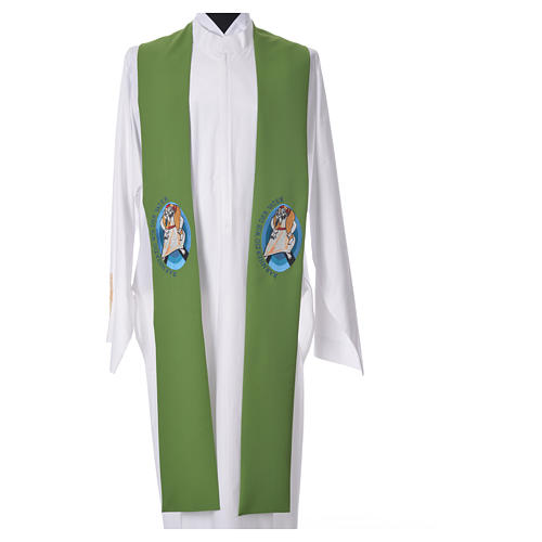 STOCK Pope Francis' Jubilee Big Stole with GERMAN machine embroided logo 6