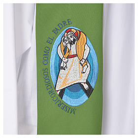 STOCK Pope Francis' Jubilee Big Stole with SPANISH machine embroided logo s7
