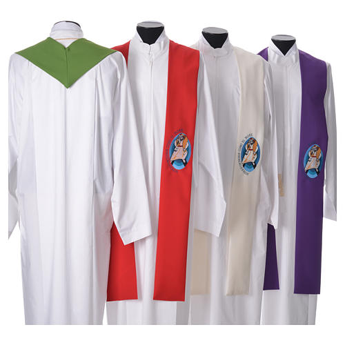 STOCK Pope Francis' Jubilee Big Stole with SPANISH machine embroided logo 2