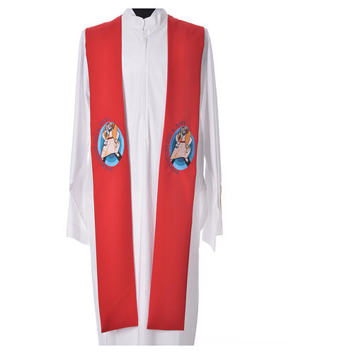 STOCK Pope Francis' Jubilee Big Stole with SPANISH machine embroided logo 5