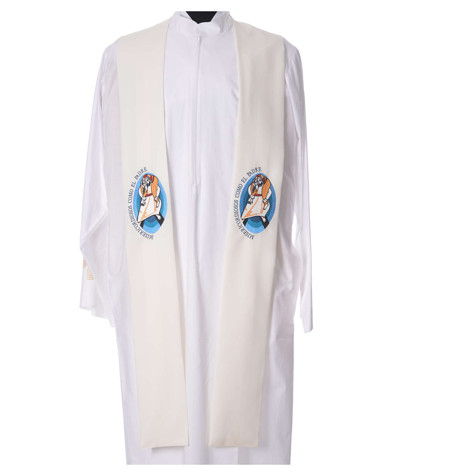 STOCK Pope Francis' Jubilee Big Stole with SPANISH machine embroided logo 4