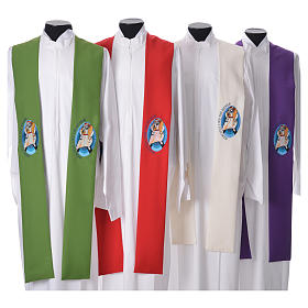 STOCK Pope Francis' Jubilee Big Stole with ENGLISH machine embroided logo s1