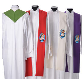 STOCK Pope Francis' Jubilee Big Stole with ENGLISH machine embroided logo s2