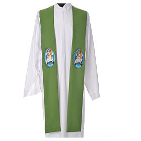 STOCK Pope Francis' Jubilee Big Stole with ENGLISH machine embroided logo s6