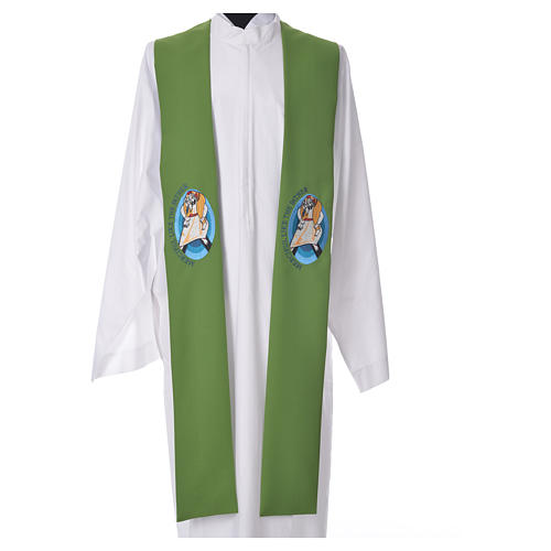 STOCK Pope Francis' Jubilee Big Stole with ENGLISH machine embroided logo 6