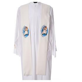 STOCK Pope Francis' Jubilee Big Stole with ENGLISH machine embroided logo s4