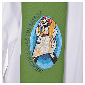STOCK Pope Francis' Jubilee Big Stole with ENGLISH machine embroided logo s7