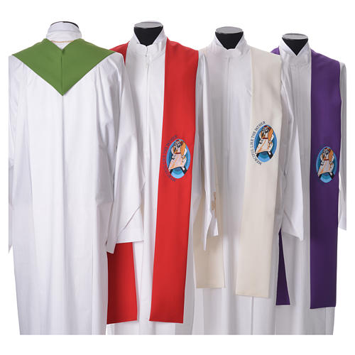 STOCK Pope Francis' Jubilee Big Stole with ENGLISH machine embroided logo 2
