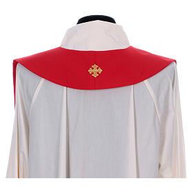 Stola sacerdotale spiga uva foglia ricamo dorato s7