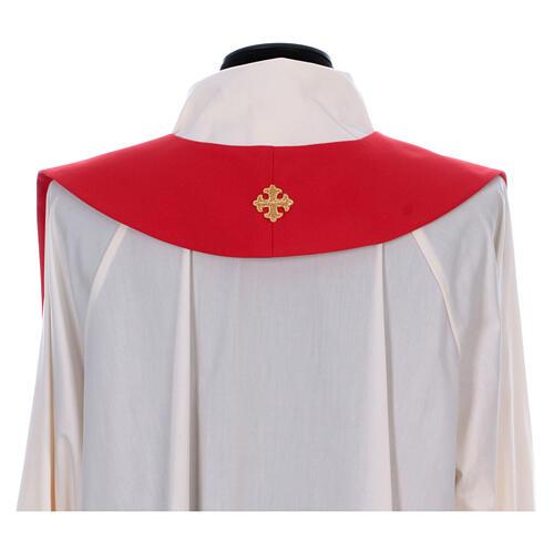 Stola sacerdotale spiga uva foglia ricamo dorato 7