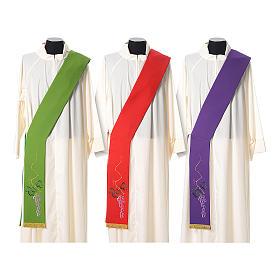 Étole tissu polyester épi doré et vert s1