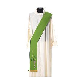 Étole tissu polyester épi doré et vert s2