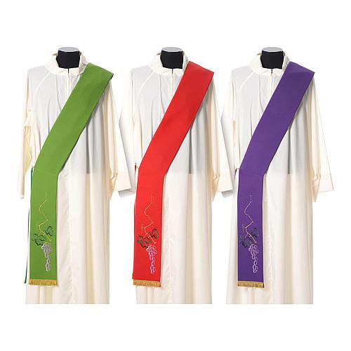 Étole tissu polyester épi doré et vert 1
