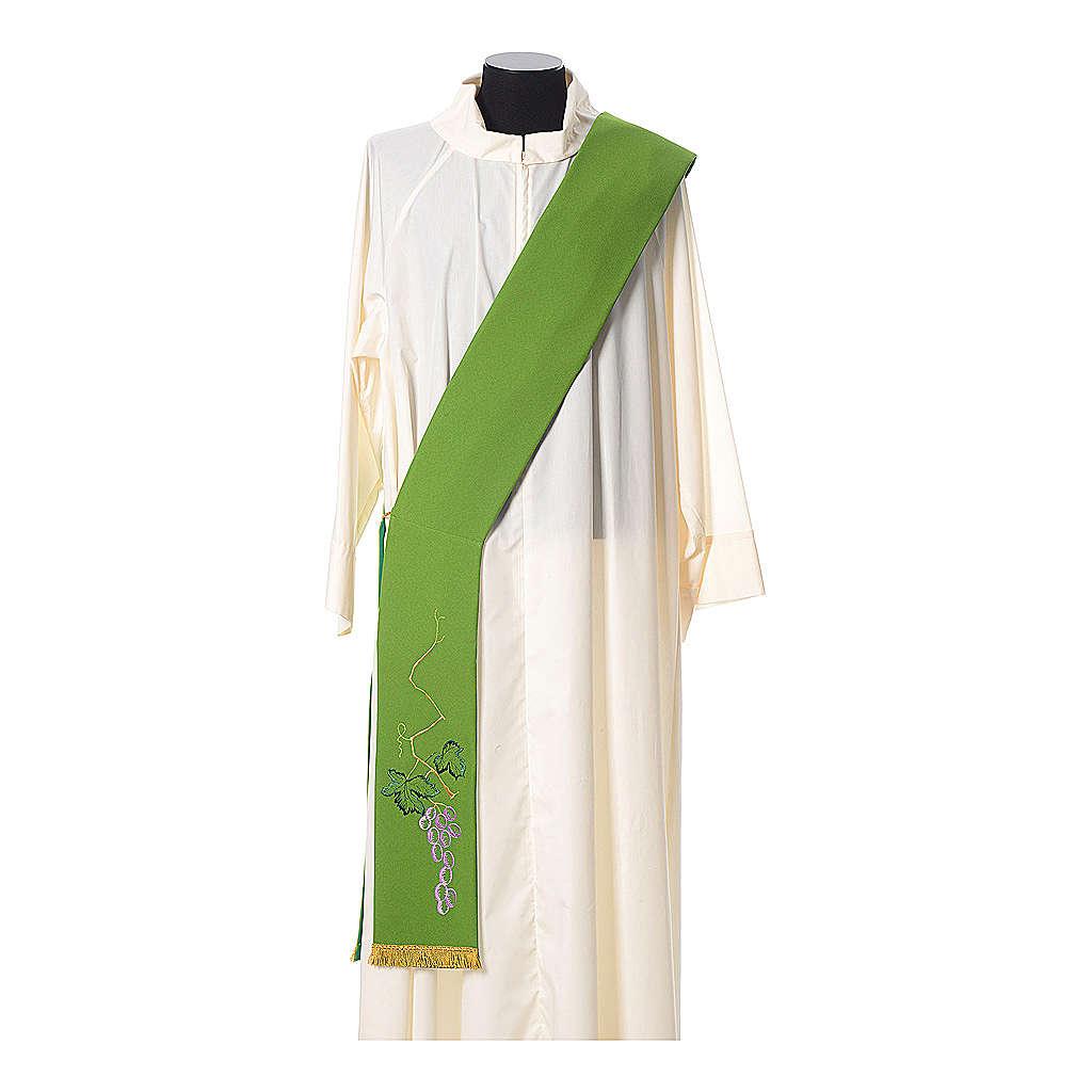 Stola tela poliestere spiga dorata e verde 4