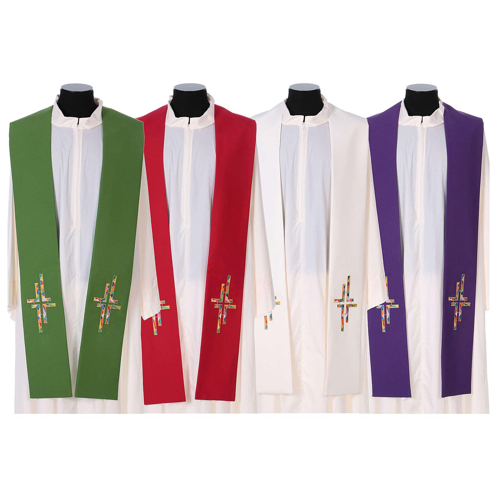 Stola tela poliestere doppia croce multicolor 4