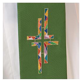 Stola tela poliestere doppia croce multicolor s2