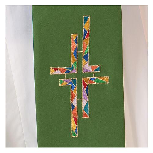 Stola tela poliestere doppia croce multicolor 2
