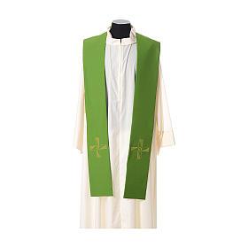 Étole tissu polyester croix avec broderie en forme d'hélice s2