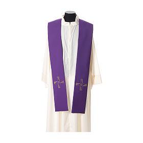 Étole tissu polyester croix avec broderie en forme d'hélice s5