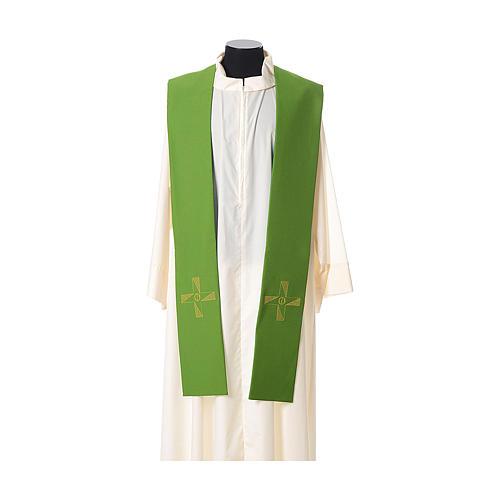 Étole tissu polyester croix avec broderie en forme d'hélice 2