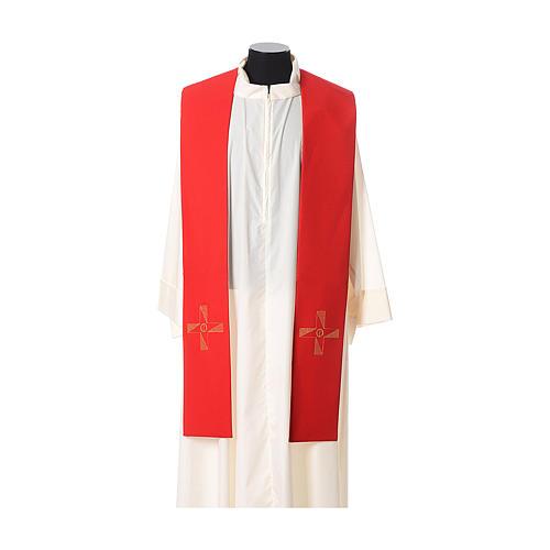 Étole tissu polyester croix avec broderie en forme d'hélice 3
